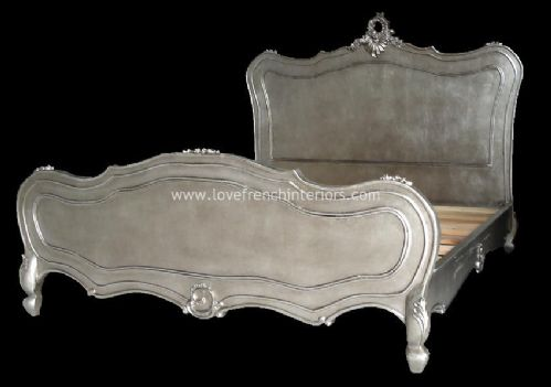 Antique Silver French Bed